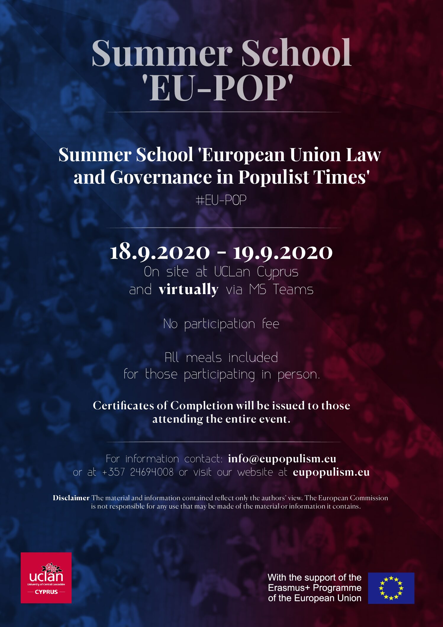 Upcoming Summer School on Populism Updated (18-19 September 2020)