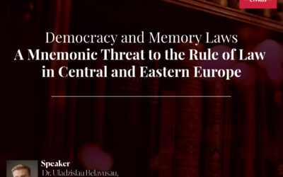 Guest Lecture: Democracy and Memory Law