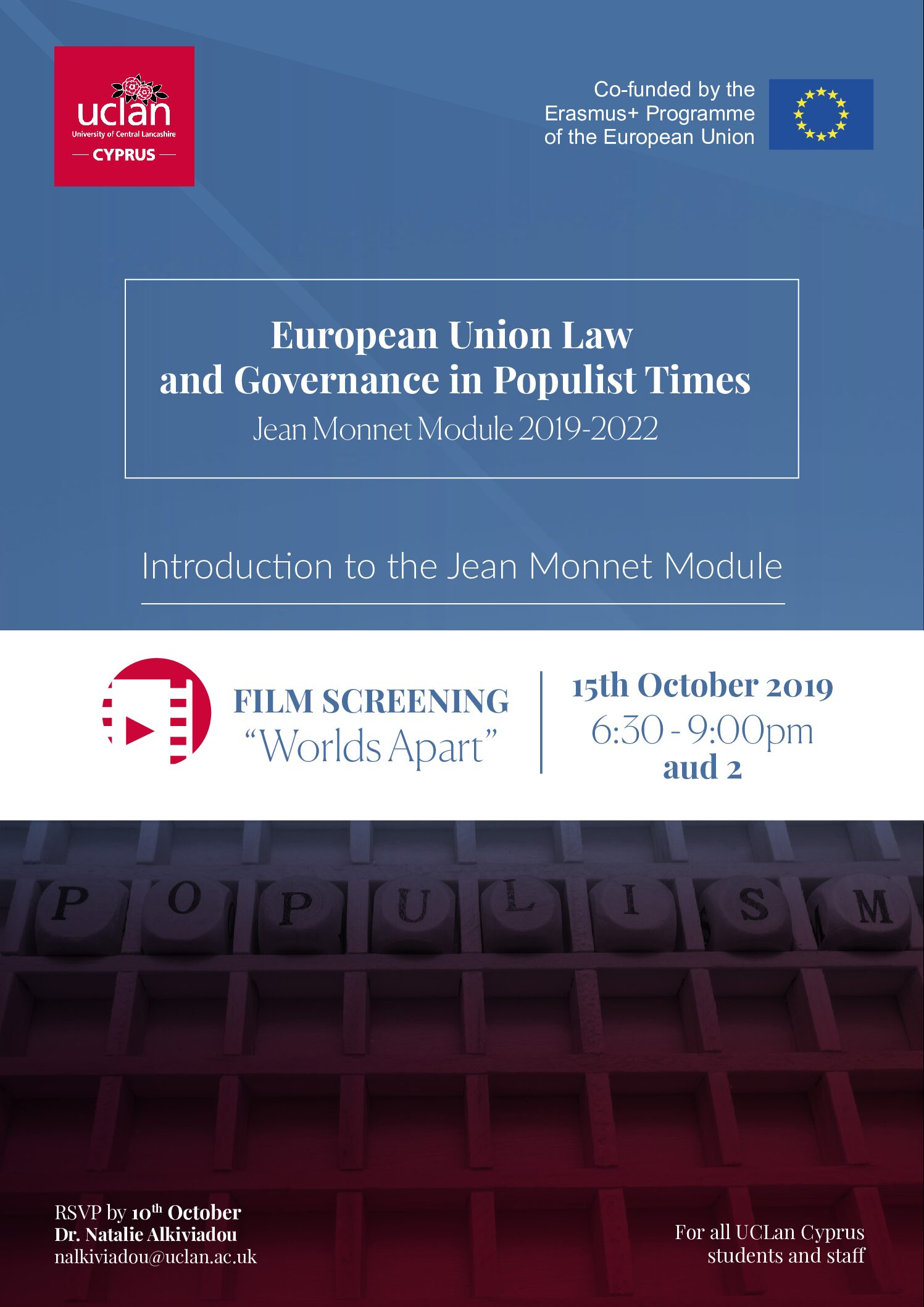European Union Law and Governance in Populist Times Jean Monnet Module 2019-2022