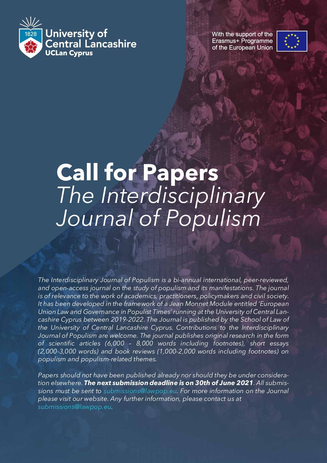 Call for Papers The Interdisciplinary Journal of Populism